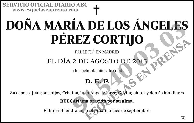 María de los Ángeles Pérez Cortijo